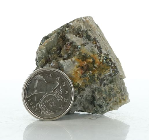 AME 641 Calcite, Chalcopyrite, Quartz Crystals Image