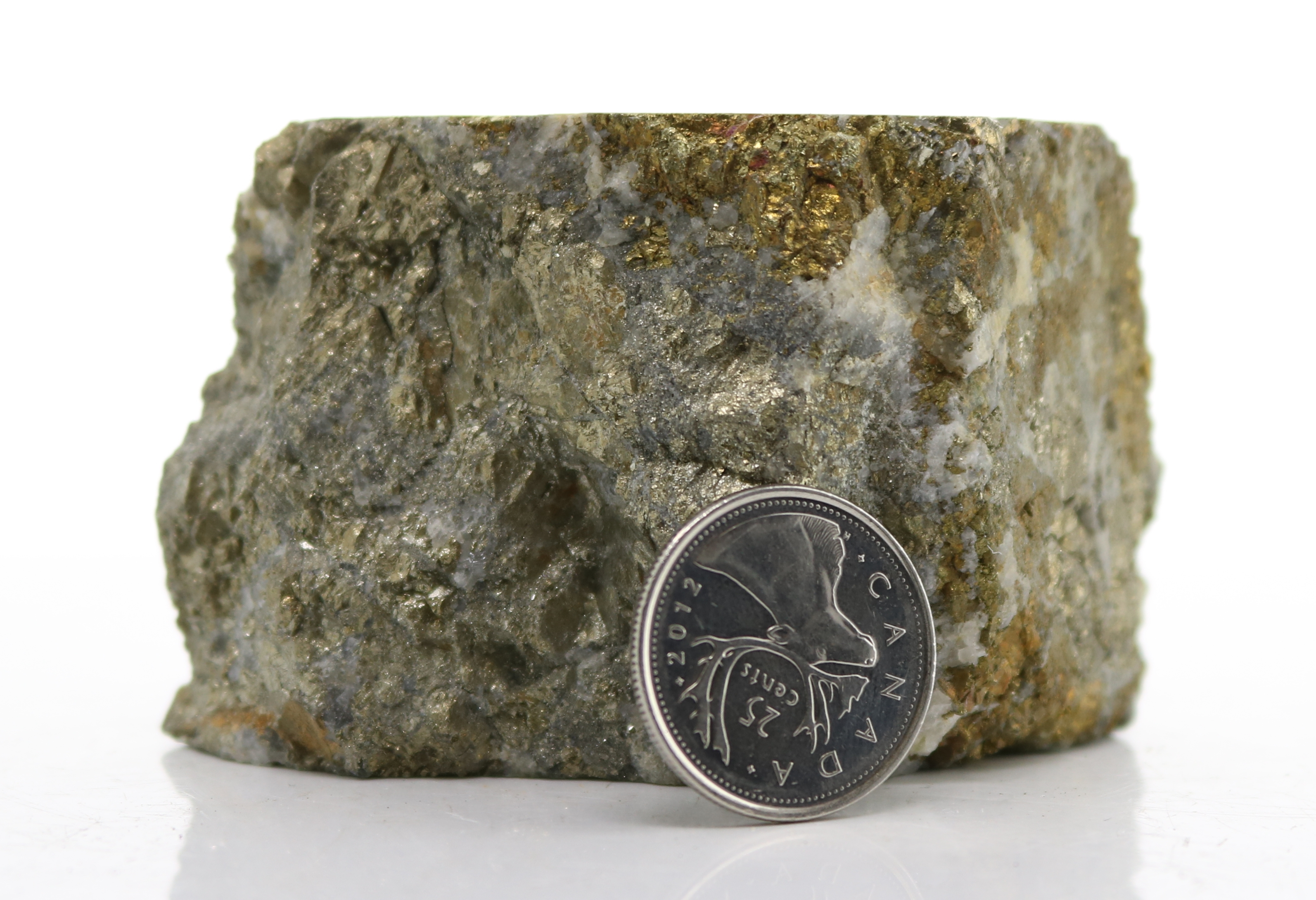 Pyrite-Chalcopyrite-Arsenopyrite(?)-Quartz vein (D34-19) Image